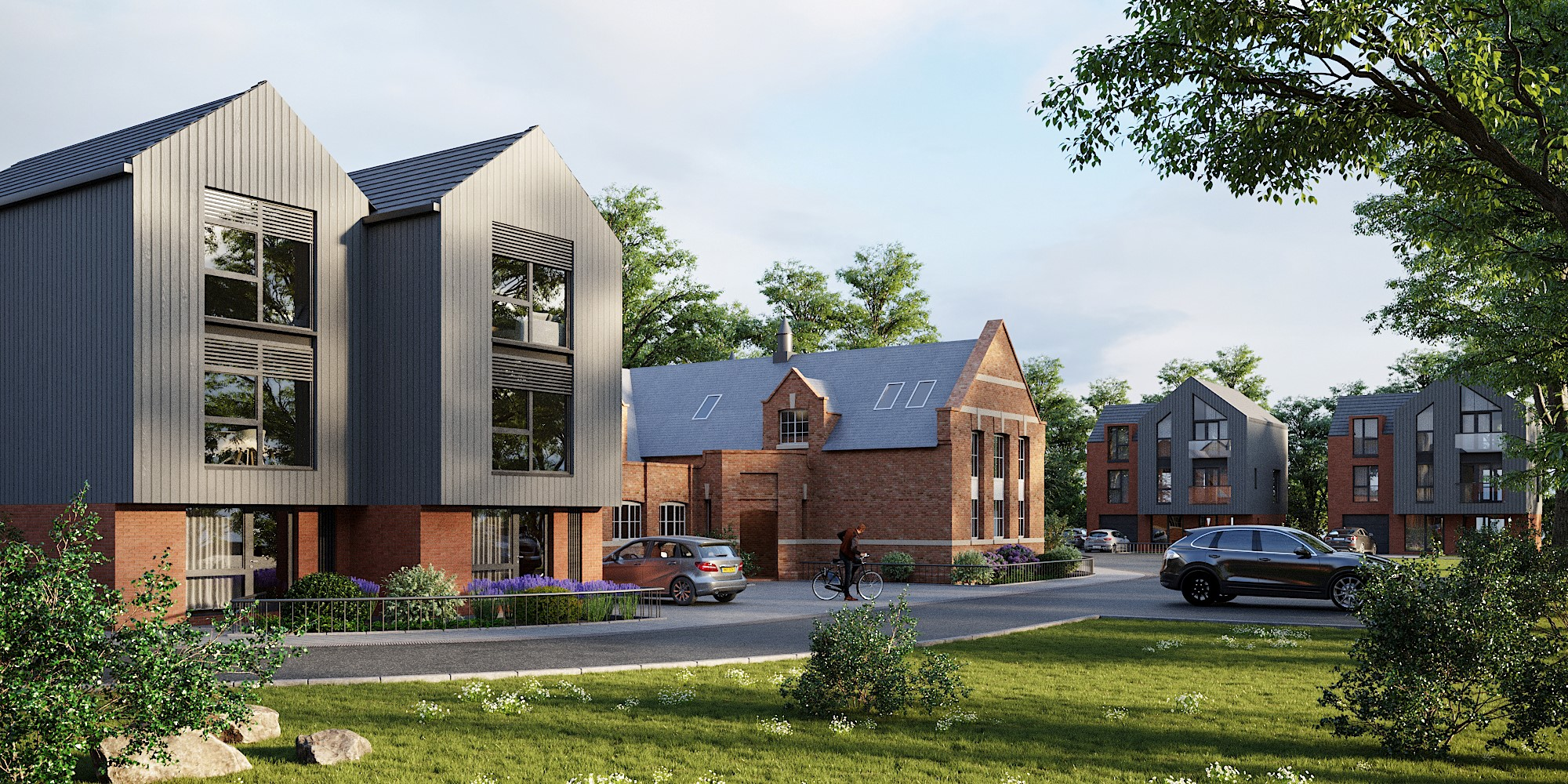 Newly built homes at Lime Grove Gloucester