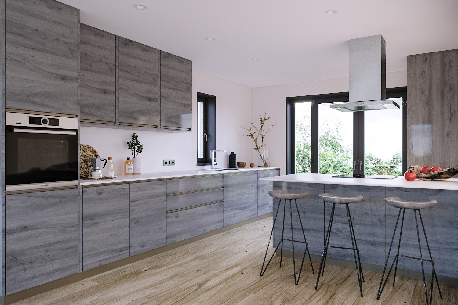 Modern Kitchen at Lime Grove, Gloucester