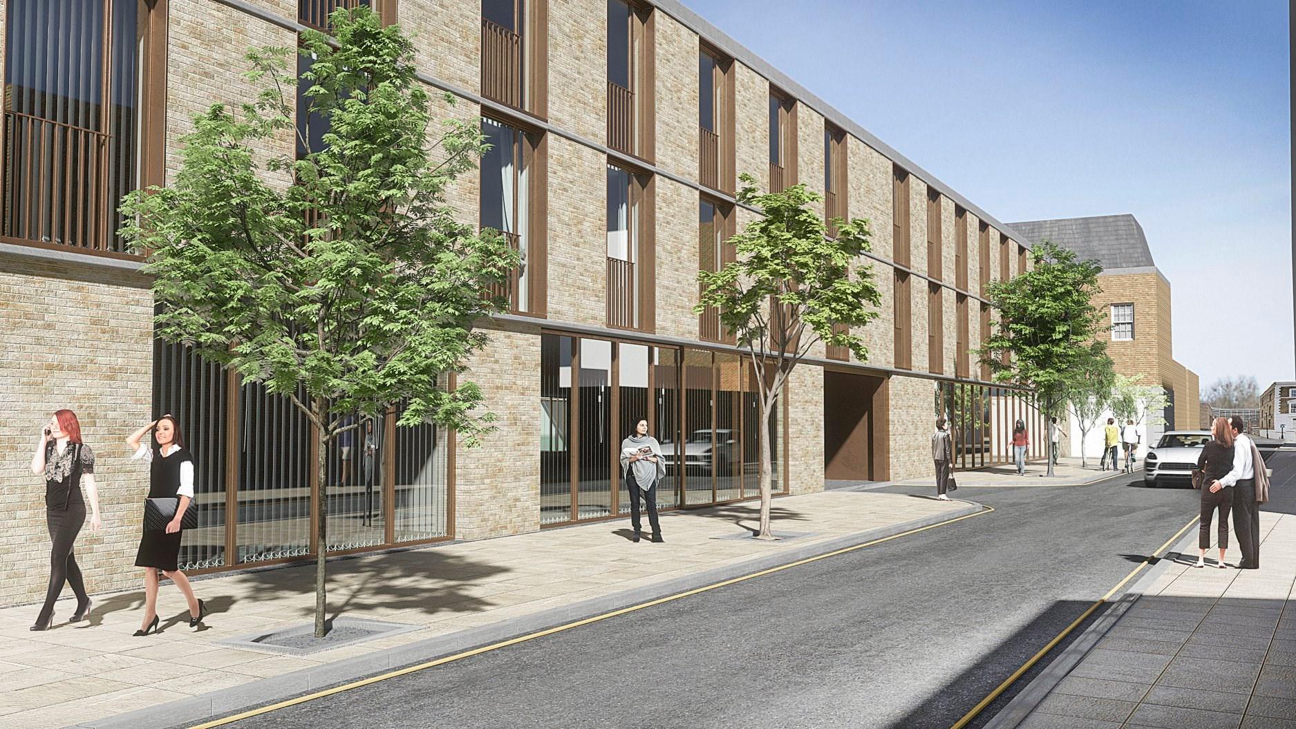 Melt Homes Project at 68-86 Clapham Road, Kennington - Rear CGI