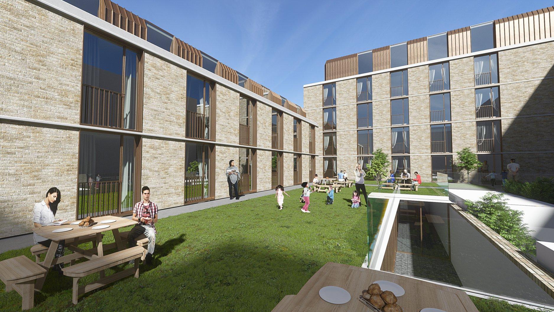 Melt Homes Project at 68-86 Clapham Road, Kennington - Roof Garden CGI