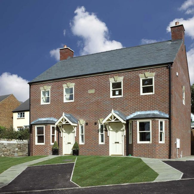 New detached and semi detached houses on Greenfield site in Coleford, Gloucestershire