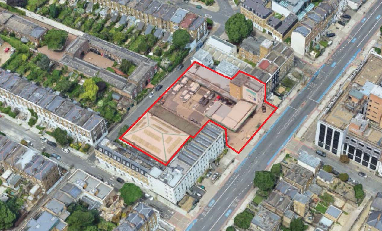 MELT Homes Project at 68-86 Clapham Road, Kennington - Site from South