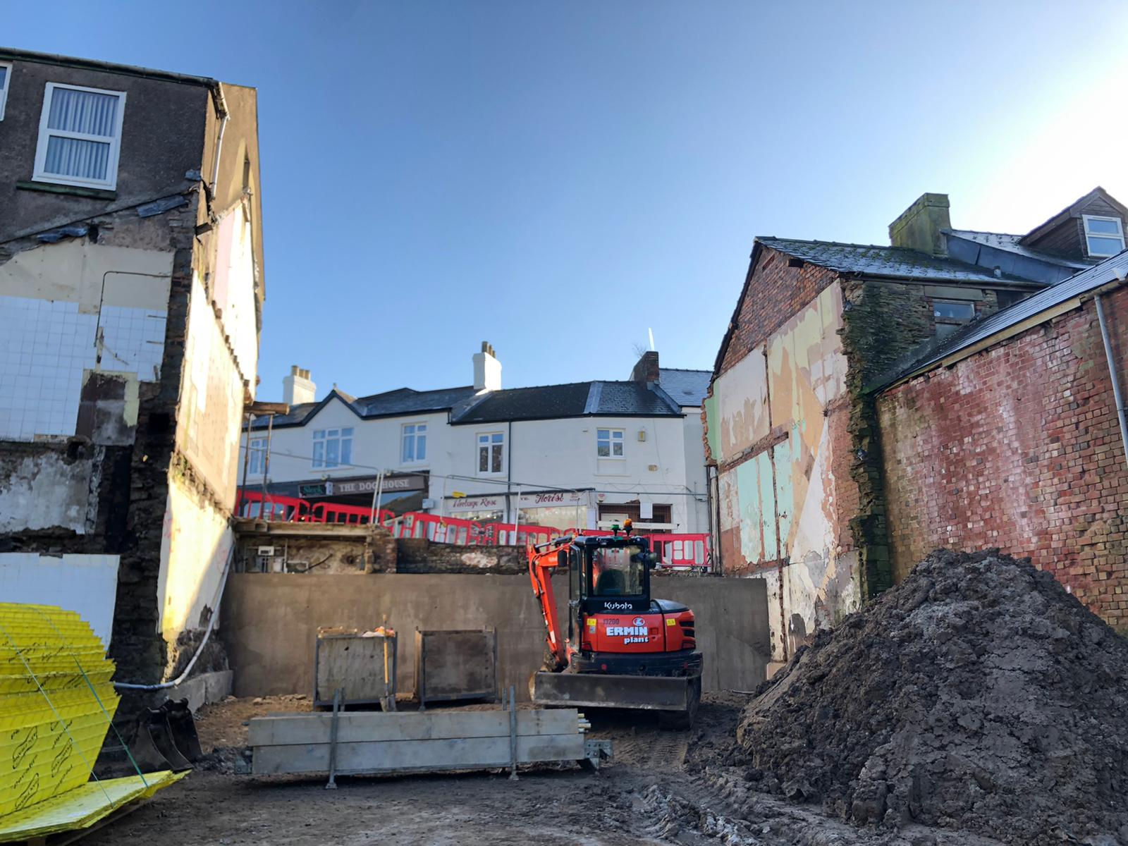 Project site at Cinderford for a residential and commercial development.