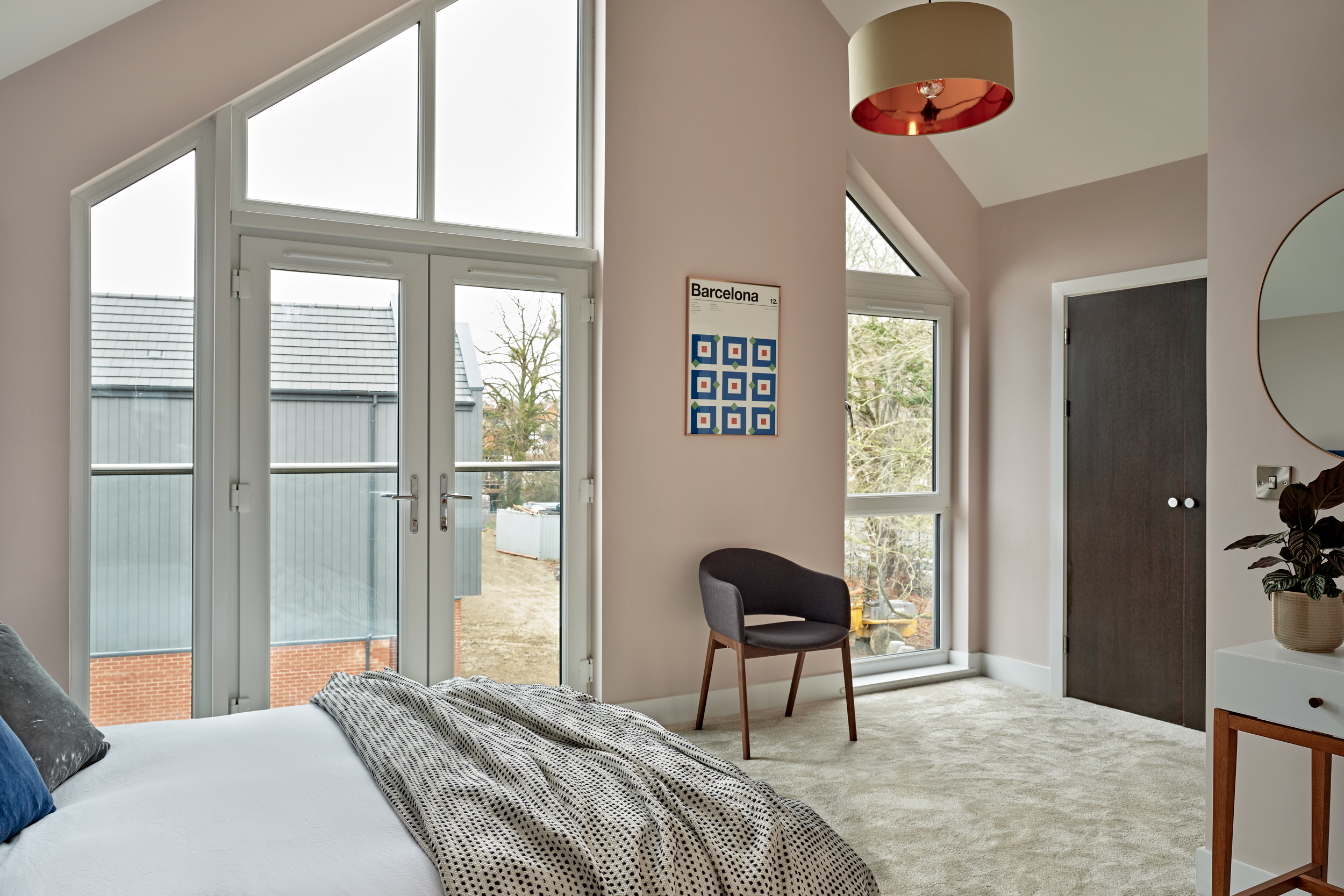 Bedroom with a vaulted ceiling at Lime Grove, Gloucester by MELT Property