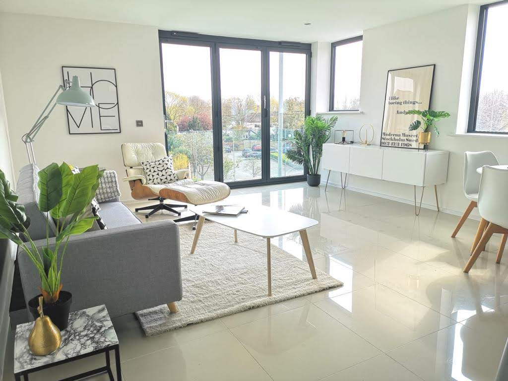 Living Room at ONE62, Hythe, a MELT Property development.