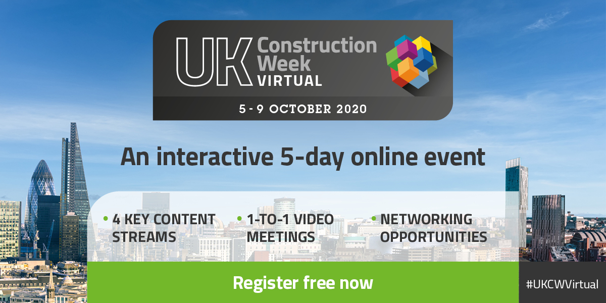 UK Construction Week virtual conference 5 – 9 October 2020 banner