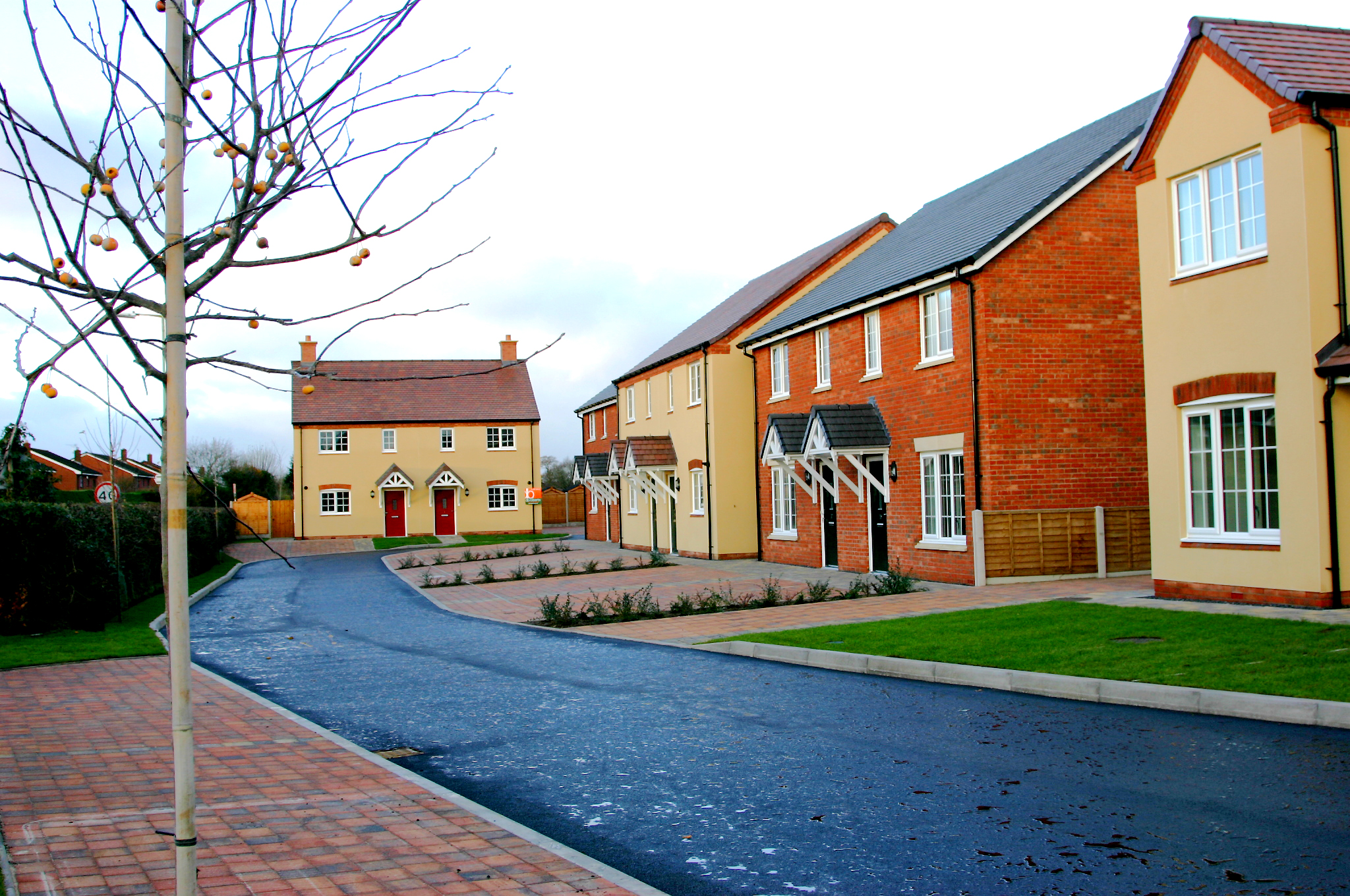 New build affordable housing by MELT Property at Baschurch, Shropshire