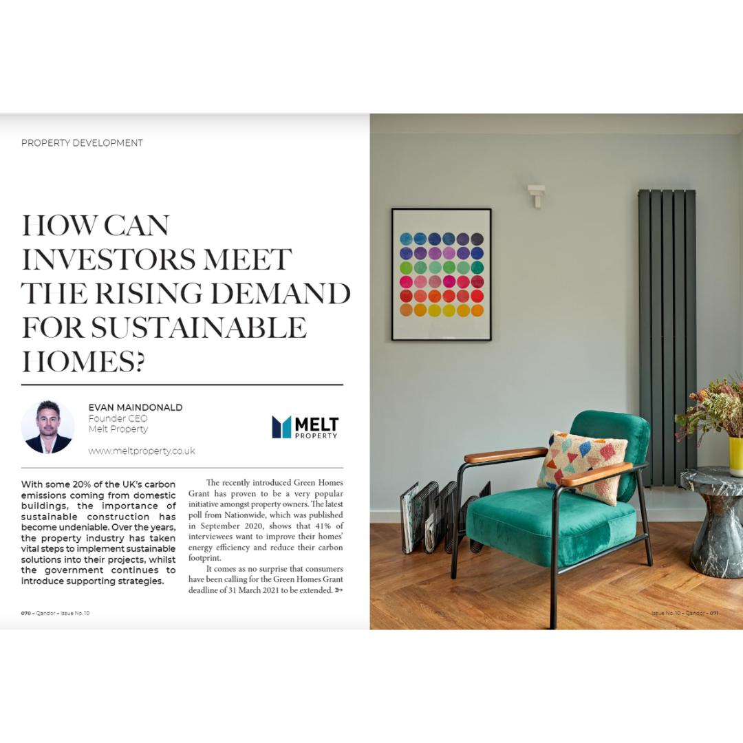 Qandor Magazine February issue, article on sustainable construction by Evan Maindonald