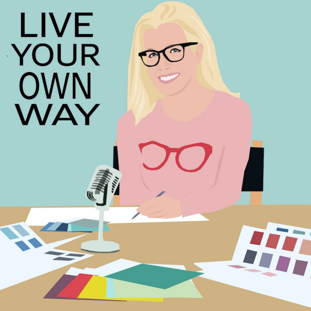 animated image of Lucy Gleeson, host of Live your own way podcast